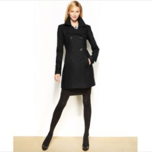 ANN KLEIN Double-Breasted Wool blend Peacoat XL